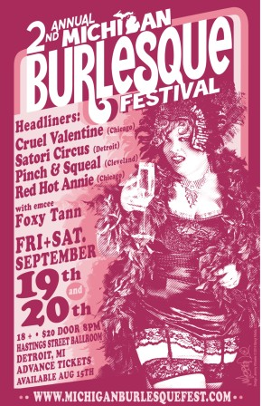 Tickets for the 2014 Michigan Burlesque Festival are now on sale!!!